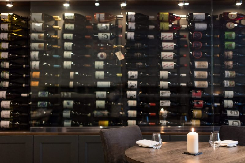 Carters Restaruant Wine Wall