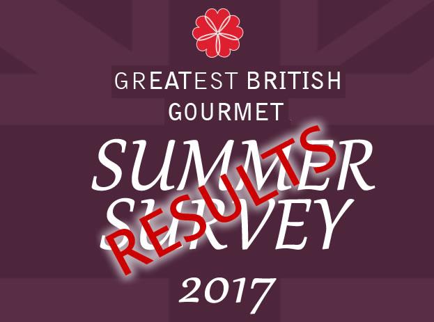 GREATEST BRITISH Gourmet Survey results