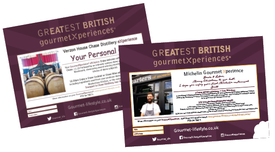 GourmetXperience Certificate samples