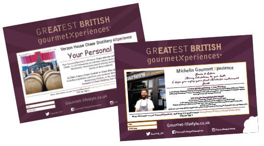 GourmetXperience Certificate samples