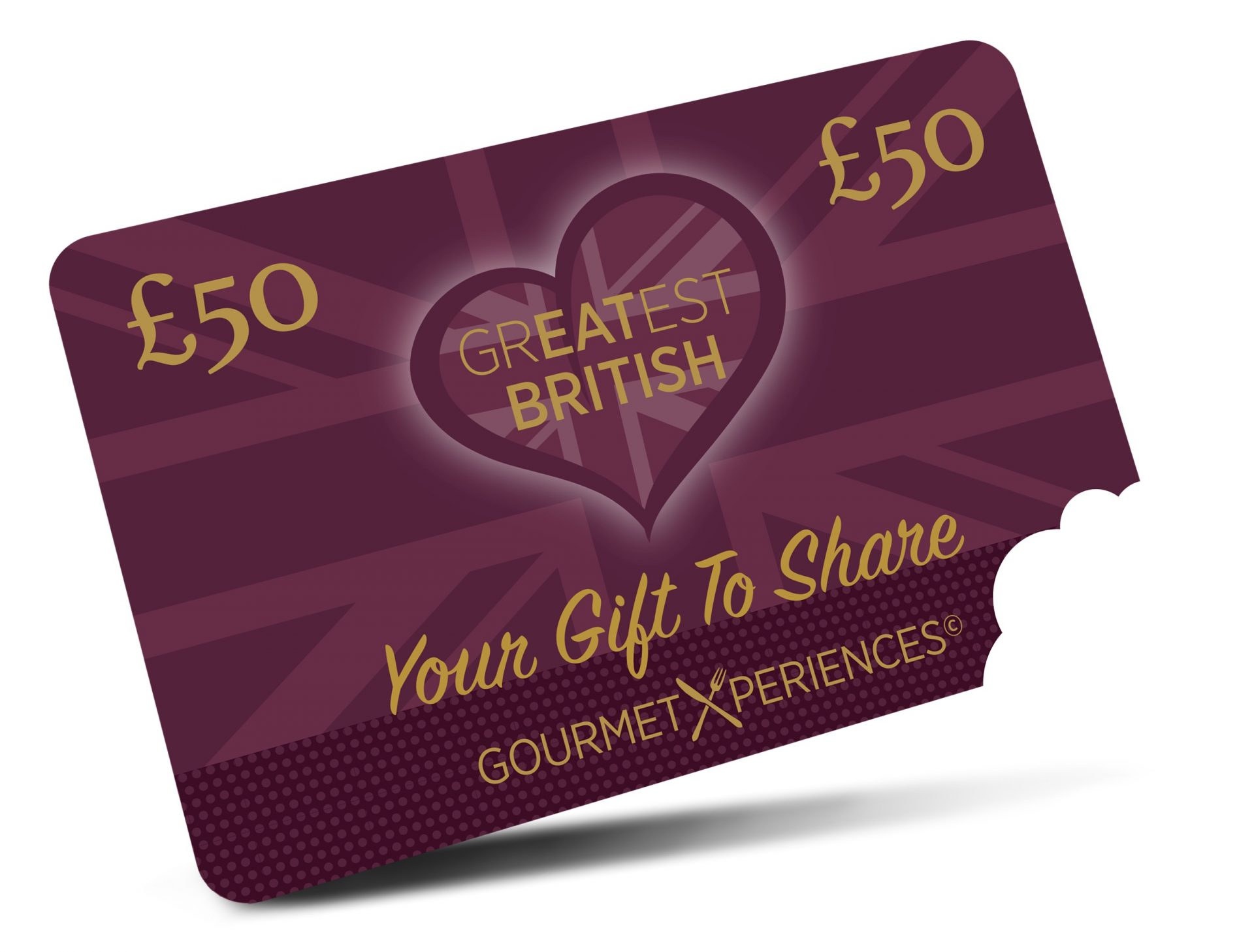 Greatest British Commission Free Gift card